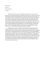 Isabel Godwin ENG 105 ESSAY 1 STUDENT ESSAY RESPONSE AND TOPIC PROPOSAL.docx