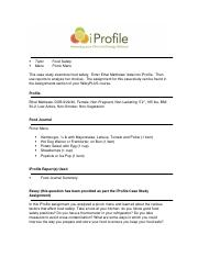 iProfile_ch13_Case_Study_Food_Safety.doc