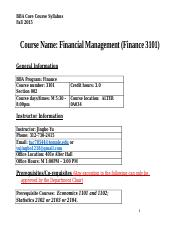 Syllabus Finance 3101 Section 002 Fall 2015 (8).doc