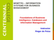 Class 6 - Databases and Information Management - F13