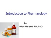 Intro Pharmacology Cont.