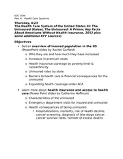 4-23-Health care system in US III-The Uninsured-1