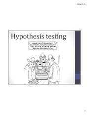 Lecture 14 - Hypothesis testing