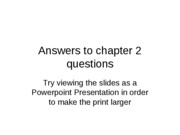 Answers to chapter 2 questions