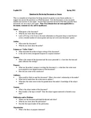 324 SPR 2011 Genre Paper Questions for Reviewing Documents as Genres(1)(1)