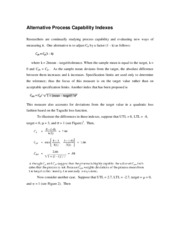 Alternative Process Capability Indexes