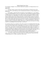 English debate essay