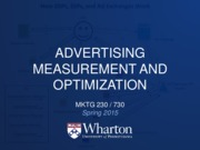 19 - Advertising Measurement and Optimization