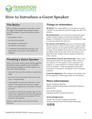 HowTo_IntroduceAGuestSpeaker_v1.0