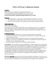 ENGL 1123 Essay 2 Assignment MWF Fall 2015-2