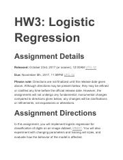 hw3 - CSE6242 Spring2017-OMS HW3:LogisticRegression Due Wednesday 29