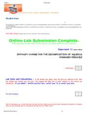 Handout - Enthalpy of Decomposition (H2O2).pdf