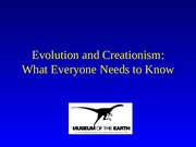 Evolution and Creationism Guide