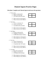 Punnett Square Practice Pages