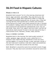 06.04 Food in Hispanic Cultures.docx