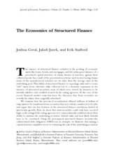 5.1 Economics of Structured Finance JEL