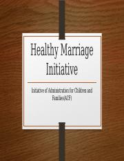 Healthy Marriage Initiative(1)