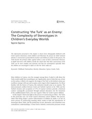 spyrou_constructing_the_turk_as_an_enemy_the_complexity_of_stereotypes_in_childrens_everyday_worlds