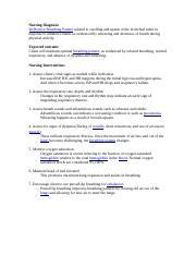 Nursing Diagnosis asthma.docx - Nursing Diagnosis ...