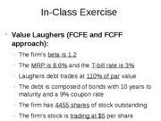 firm valuation In-Class Exercise only