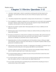 Chapter 5-3 Questions 1-12