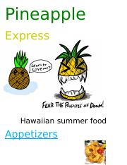 pineapple express foods project james bly