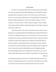 Macbeth Documents  Course Hero Ap Lit Macbeth Essay