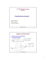 Lecture Notes on Classification Learning
