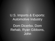 Powerpoint- US auto imports vs exports