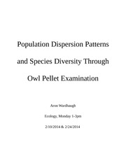 Lab 2 Population Dispersion Patters