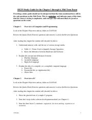 EE233 Study Guide for Chapter 1 through 6, Midt-Term Exam