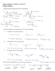 Chapter 3 Worksheet; Organic Molecules and Functional Groups KEY