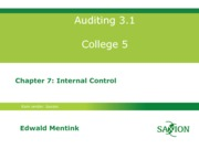Auditing 3.1 college 5, chptr 7, eme03