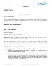 TCS offer letter sample fer puter Consultancy Ref