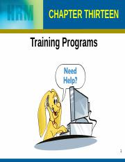 Chapter 13 Training Programs (1)