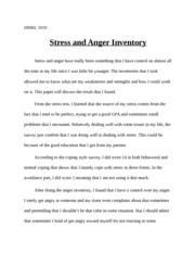 Stress and anger Inventory