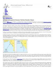 Judgment in Bangladesh-Myanmar Maritime Boundary Dispute _ International Law Observer _ A blog dedic