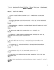 Fin3000_Practice_Questions_ExamIII_Fall_09 - Copy