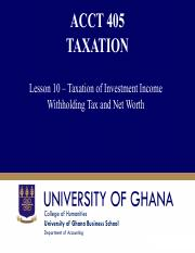 Lesson 10  Taxation of Investment Income Withholding Tax and Net worth.pdf