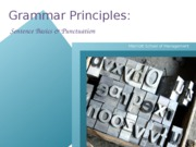 My Sentence Analysis, Sentence Guidelines, Punctuation PPT