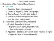 POLI 1100: The Judicial System ppt Notes