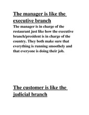The manager is like the executive branch
