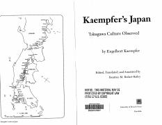 Kaempfer on Tokugawa Culture.pdf
