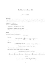 Problem Set #1 with Solutions