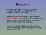 Economics Growth Lecture Slides