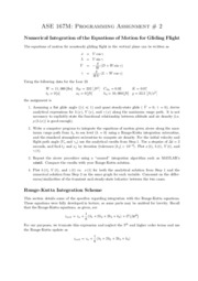 ASE 167M - Programming Assignment 2