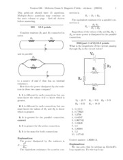 Midterm Exam 3- Magnetic Fields-solutions