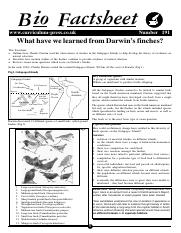 191 What have we learned from Darwin's finches