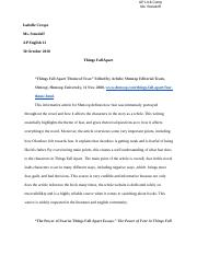 Annotated Bibliography AP Lit 12