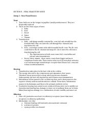 Section D Final Study Guide